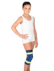 Детский бандаж на коленный сустав с пружинными ребрами жесткости