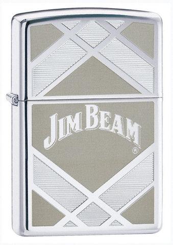 Зажигалка Zippo Jim Beam High Polish Chrome