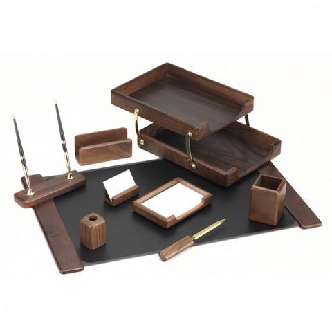 Настольный набор Good Sunrise T9D-1 (9 предметов) орех дерево коричневый