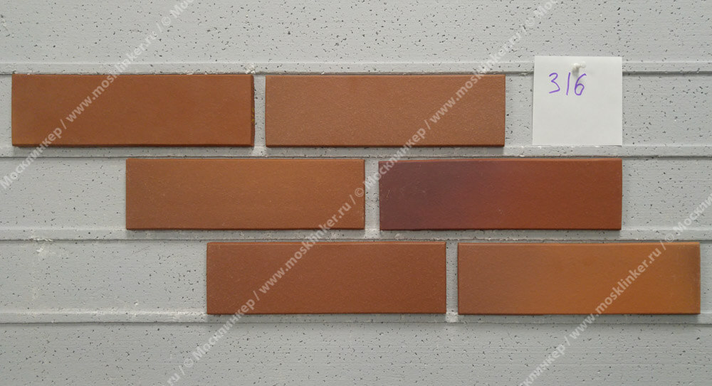 Stroeher - 316 patrizienrot ofenbunt, Keravette, unglasiert, неглазурованная, гладкая, 240x71x11 - Клинкерная плитка для фасада и внутренней отделки