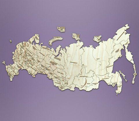 малая карта РФ 585х310мм