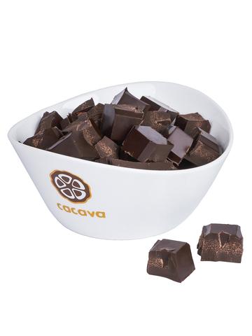 Какао тёртое кусочками (Доминикана), внешний вид