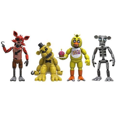 Набор из 4 фигурок: Фокси, Золотой Фредди, Чика и эндоскелет Фредди