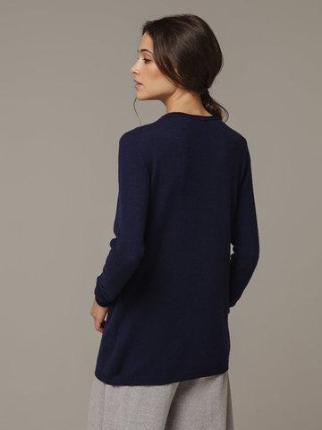 Женский синий джемпер из 100% кашемира - фото 3