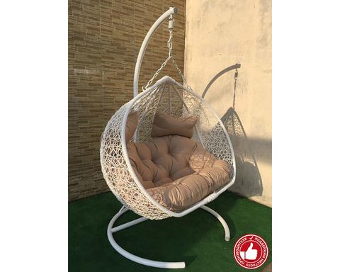 Кресло качели двухместные Сомбрерро белые