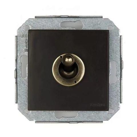 Выключатель/переключатель тумблерный, на 2 направления(проходной) 10А 250В~. Цвет Бронза/коричневый. Fontini F37(Фонтини Ф37). 67308572