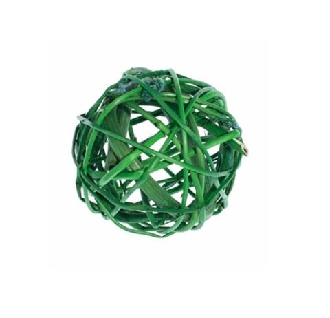 Плетеные шары из ротанга (набор:12 шт., d5см, цвет: зеленый)