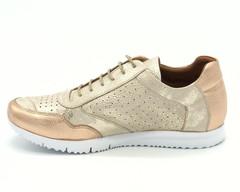 Комбинированные кроссовки из натуральной кожи