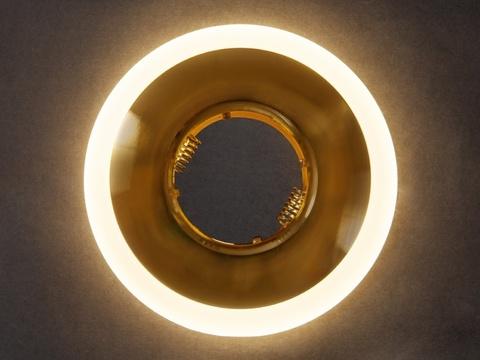 Светильник встраеваемый 8112-3W-GO Золото+Диодная подсветка