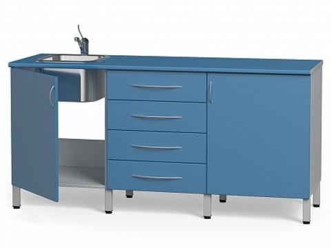 Комплект медицинской мебели БТ-04+БТ-02/4+БТ-05- 170 - фото