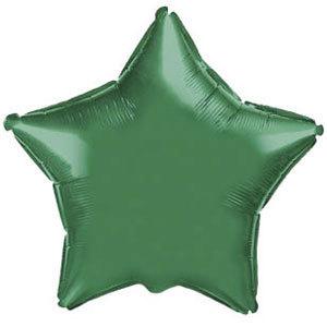 Фольгированный шар Звезда GREEN 18