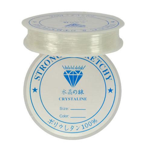Спандекс прозрачный 1.0 мм - силиконовая нить