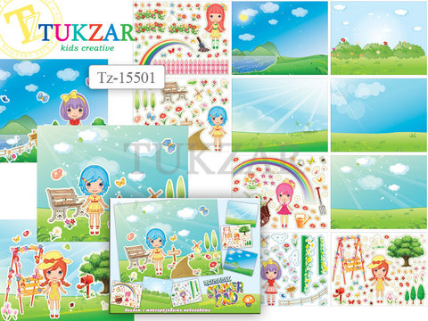 071-5003 Альбом с многоразовыми наклейками