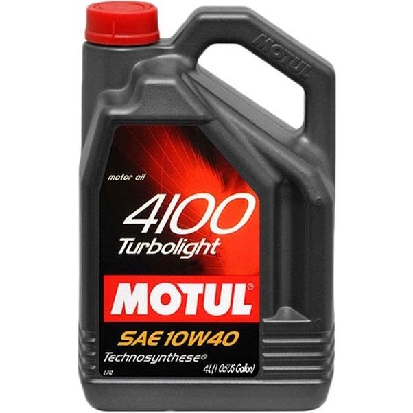 Motul 4100 Turbolight 10W40 A3/B4 Полусинтетическое моторное масло