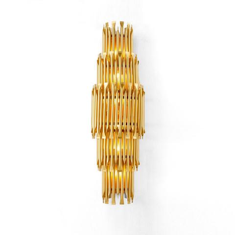 Настенный светильник копия Matheny by Delightfull (5 уровней, золотой)