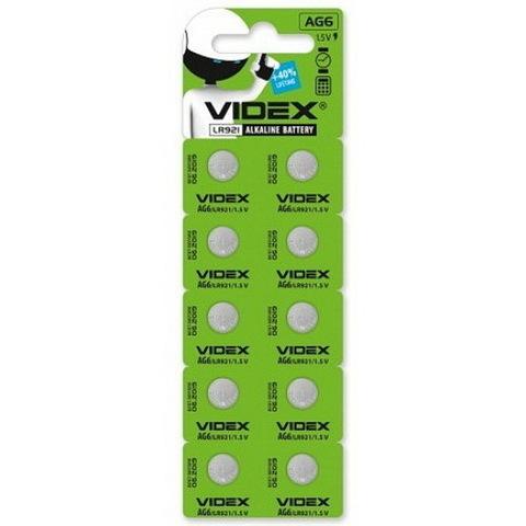 Батарейки часовые Videx AG 6 (LR920) BL