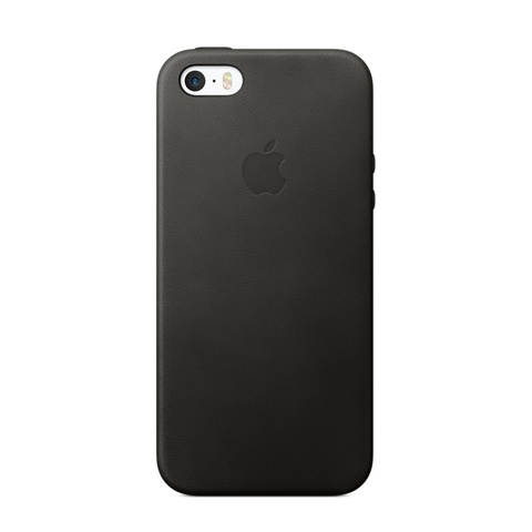 Чехол iPhone SE Leather Case /black/