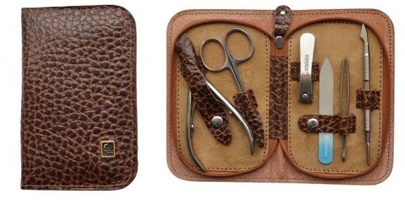 Маникюрный набор Сталекс НМ-10 «Универсальный», 6 предметов. Натуральная кожа, ручная заточка. Цвет № 121