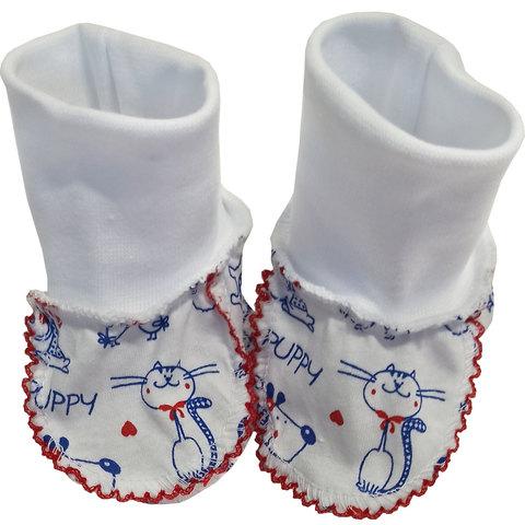 Папитто. Пинетки для новорожденного из кулирки