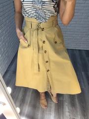 бежевая юбка с пуговицами nadya