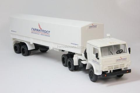 KAMAZ-5410 with semitrailer ODAZ with awning Delivery Garantpost Elecon 1:43