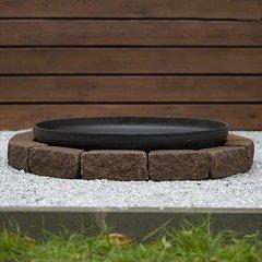 Чаша для костра Concretika iron P80 на основании из состаренного бетона 1 уровень кладки