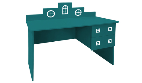 детский письменный стол в виде домика