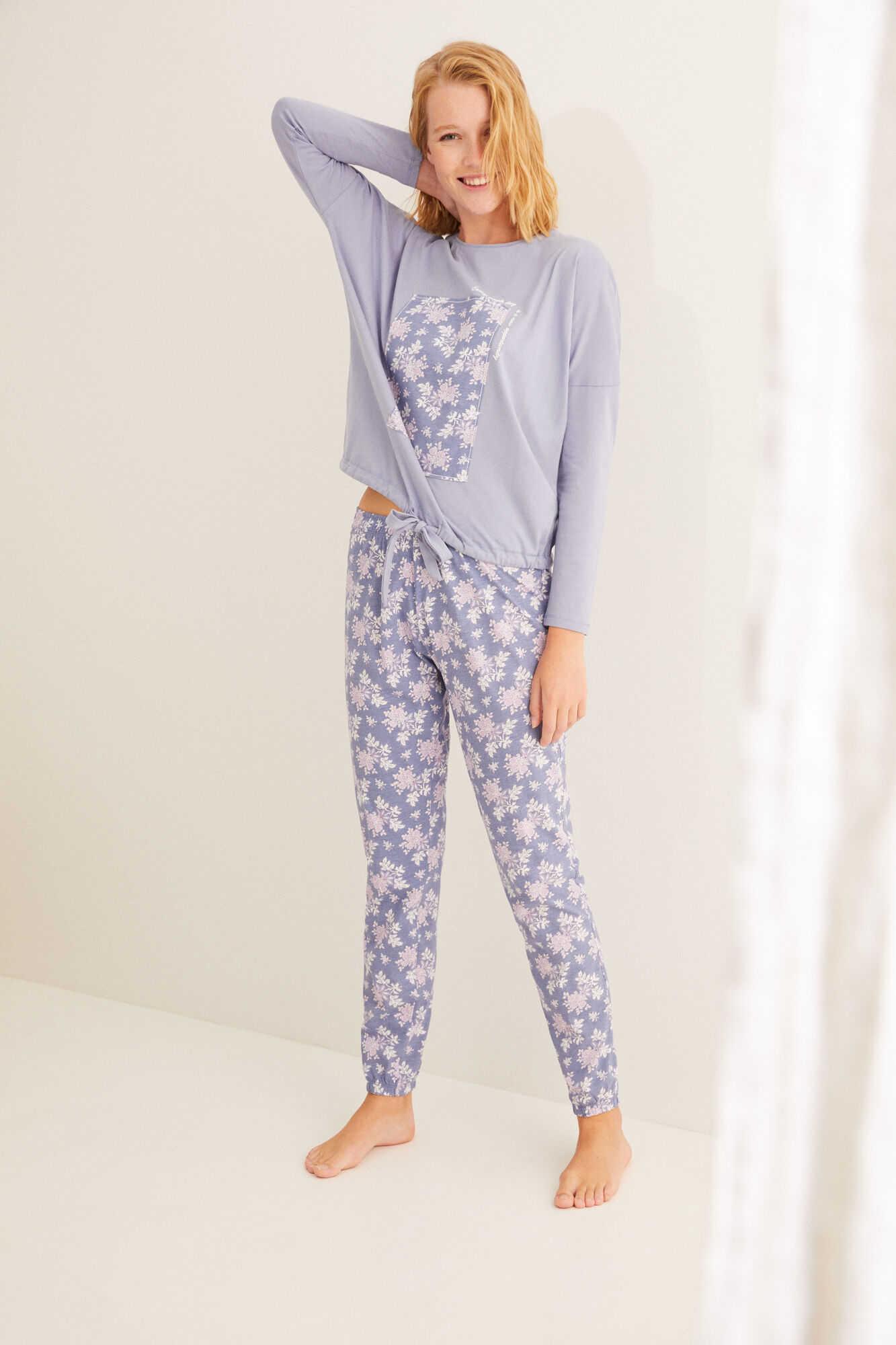 Длинная хлопковая пижама
