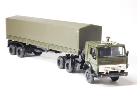 KAMAZ-5410 with semitrailer ODAZ with awning khaki Elecon 1:43
