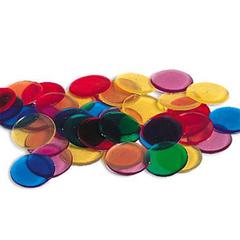 Прозрачные разноцветные кружки. Super Sorting Set Learning Resources
