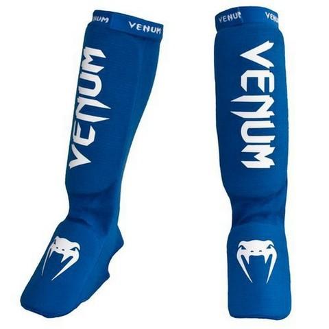 Щитки Venum Kontact Shinguards and insteps Cotton Blue