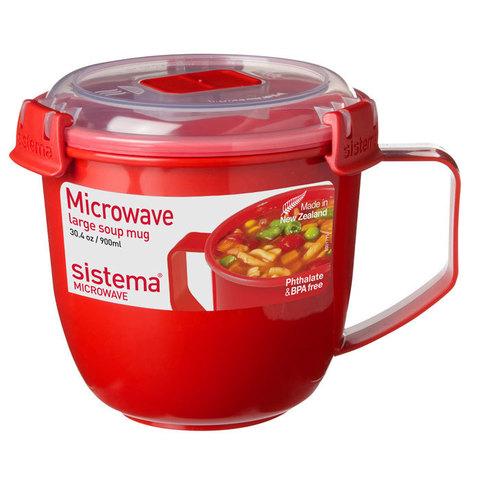 """Кружка суповая для СВЧ Sistema """"Microwave"""" 900 мл"""