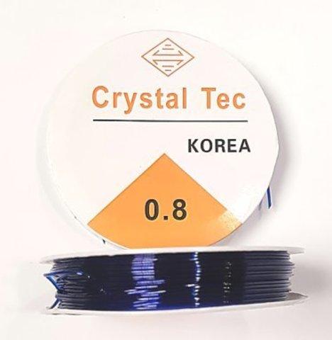 Спандекс резинка 0,8 мм - силиконовая нить цвет синий