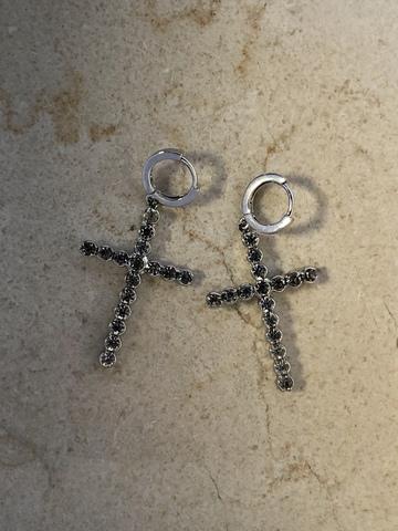 Серьги Византа, серебряный цвет