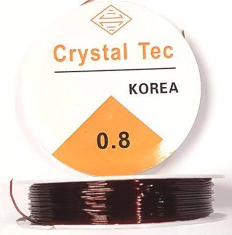 Спандекс резинка 0,8 мм - силиконовая нить цвет коричневый
