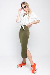 """<p>Хит сезона - лето 2020 !!!&nbsp;</p> <p>Это что-то невероятное!&nbsp;</p> <p>Модная """"двойка"""" из трикотажного платья и льняной рубашки в полоску. Идеальный вариант для уверенной в себе особы. Рубашка зафиксирована на бретелях платья.</p>"""