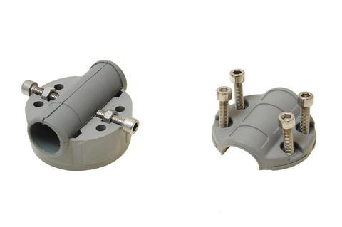 Монтажная площадка Mr125 для установки замка на трубу Ø 22, 25 мм, серая