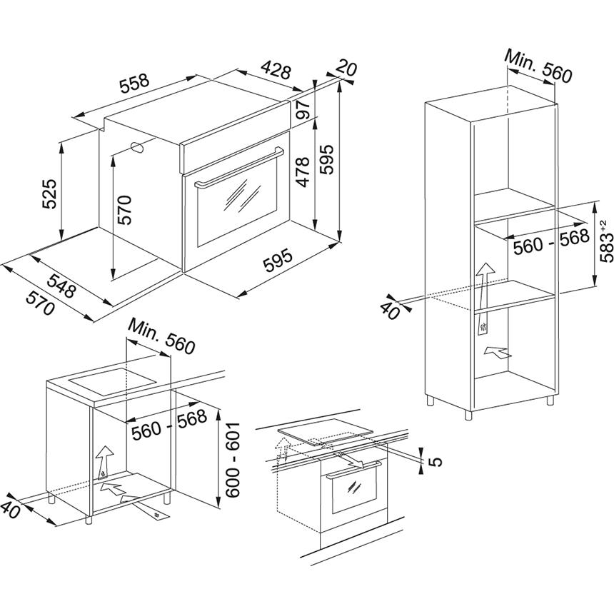 Электрический независимый духовой шкаф Franke Smart FSM 86 H XS