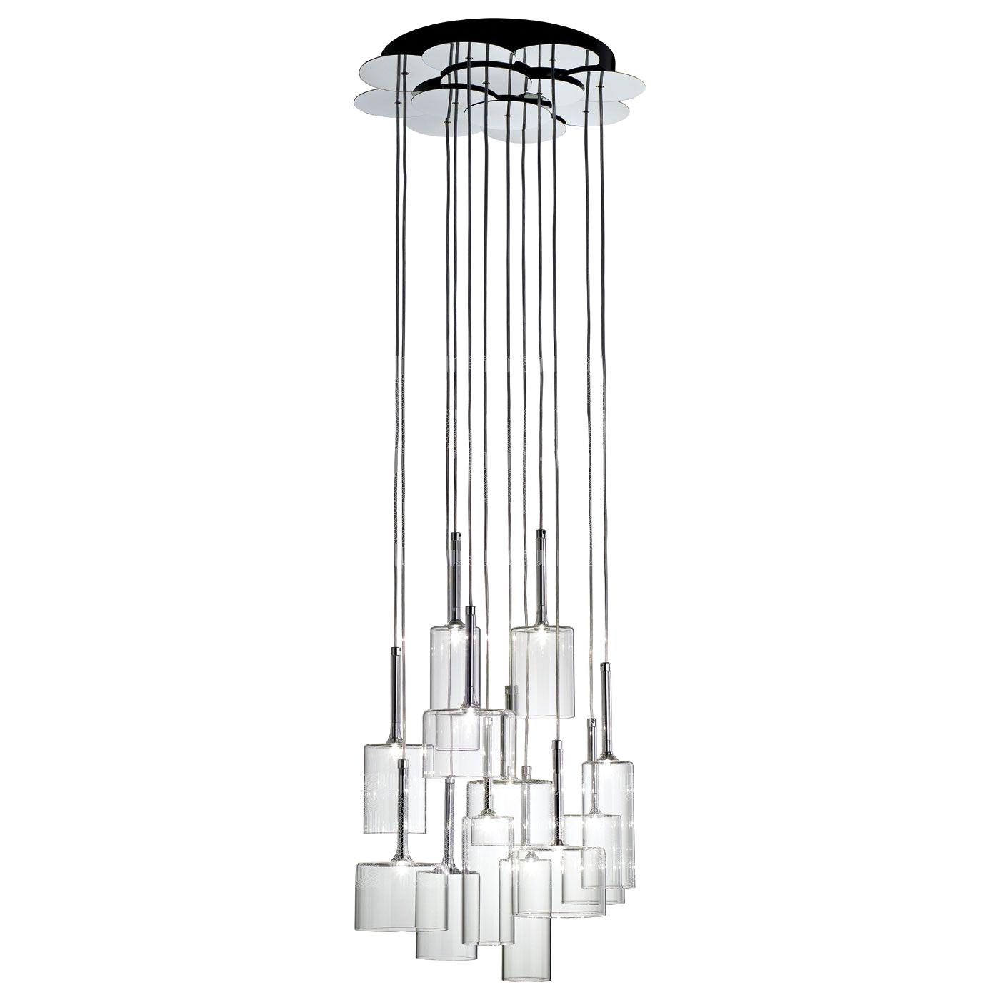 Подвесной светильник копия SP SPILL 12 / Spillray by AXO LIGHT  (прозрачный)