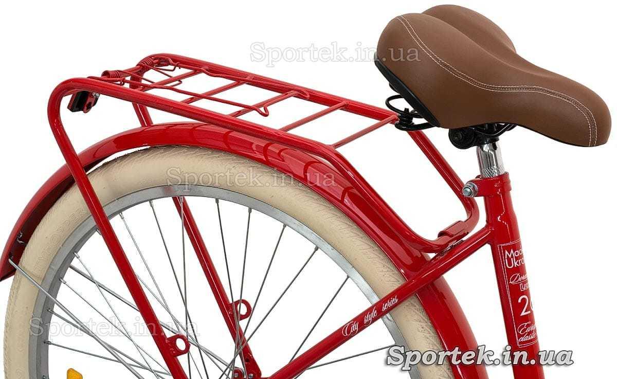 Седло и багажник городского универсального велосипеда Дорожник Люкс 2016
