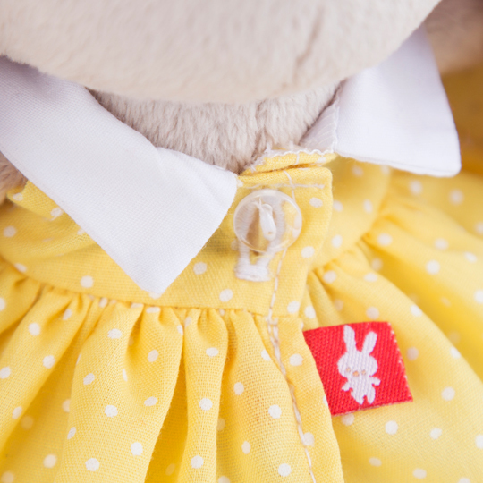 Зайка Ми в желтом платье в горошек