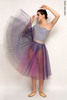 Set: 1 Sleeve 1 Strap leotard + colour rehearsal tulle skirt