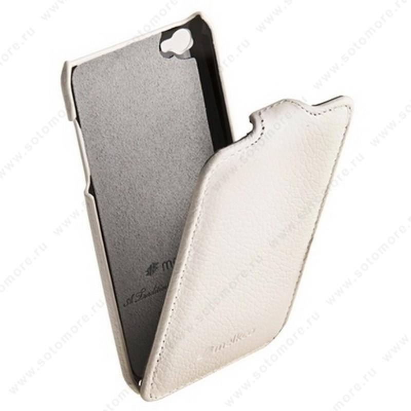 Чехол-флип Melkco для Apple iPod Touch 4th Leather Case Jacka Type (White LC)