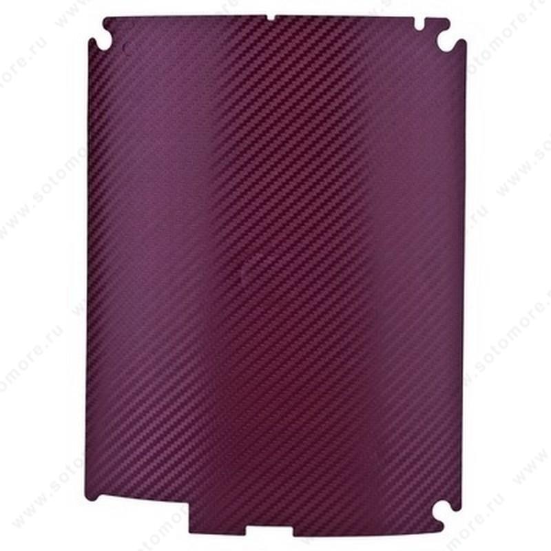 Наклейка карбон для iPad 4/ 3/ 2 бордовая на заднюю часть