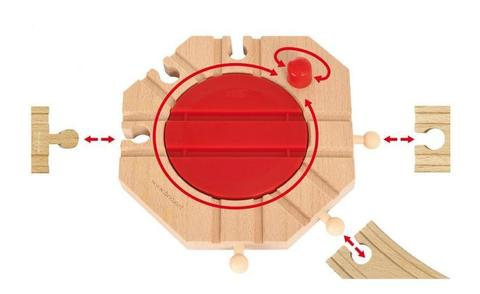 BRIO Поворотный круг (механический перекрёсток)