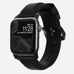 Ремешок Nomad Traditional Strap для Apple Watch 44mm/42mm кожа черный