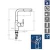 Смеситель для кухни с выдвижной лейкой ATICA 751901H1 - фото №2