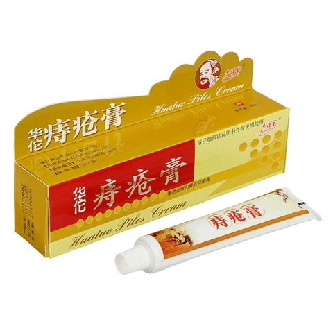 Фитокрем Huatuo Piles Cream от геморроя с мускусом, 25 гр