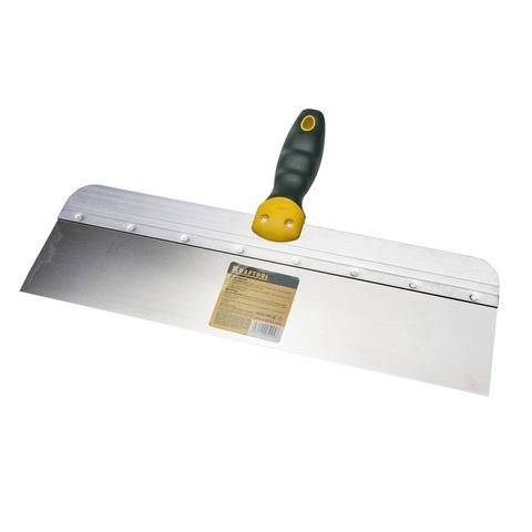 Шпатель KRAFTOOL фасадный с двухкомпонентной ручкой, нержавеющее полотно, 400мм