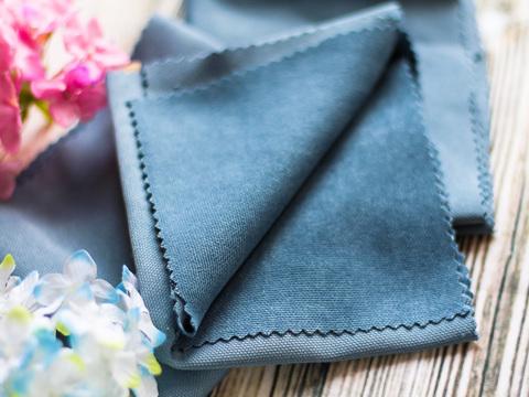 Тканина декоративна для іграшок, Нубук сіро-блакитний. Відріз 23х50 см.